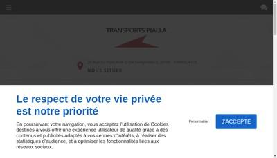 Site internet de Transports Pialla