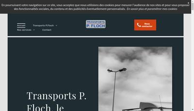 Site internet de Transports P Floch et Fils