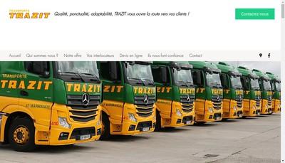 Site internet de Transports Trazit