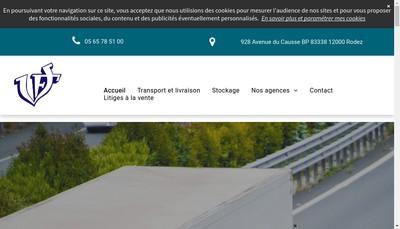 Site internet de Transports Valette