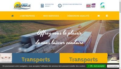 Site internet de Transports Serge Moreau