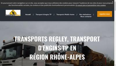 Site internet de Transports Regley
