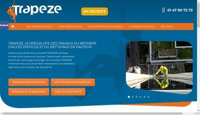 Site internet de Trapeze SARL