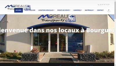 Site internet de Transport Moreau