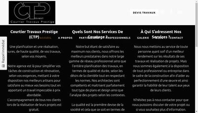 Site internet de Courtier Travaux Prestige