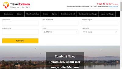 Site internet de Travel Evasion