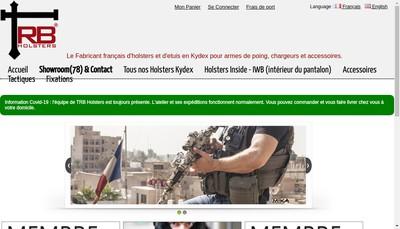 Site internet de TRB Holsters - Taprackbang- Kydex Designer