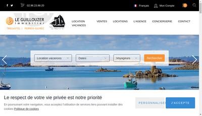 Site internet de Le Guillouzer Immobilier SARL