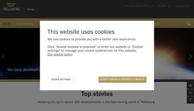 Site internet de Trelleborg Industrie
