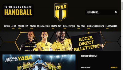 Site internet de Tremblay-en-France Handball Sasp