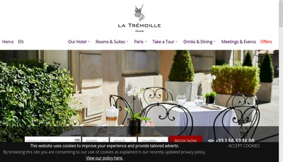 Site internet de Hotel la Tremoille