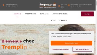 Site internet de Tremplin Carriere