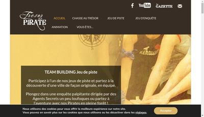 Site internet de Tresor de Pirate