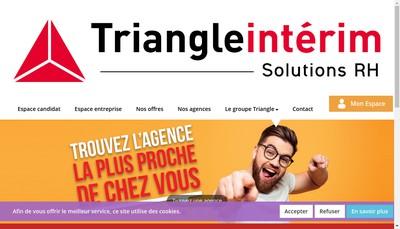 Site internet de Triangle Interim