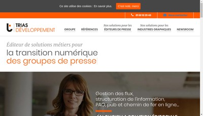 Site internet de Trias Developpement