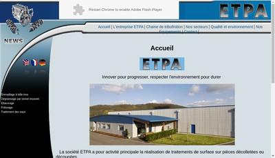 Site internet de Etpa Tribofinition