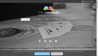Site internet de Tribu Nomade
