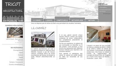 Site internet de Tricot Architecture
