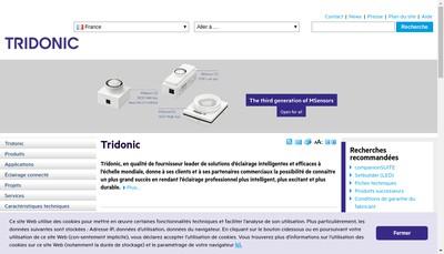 Site internet de Tridonic France