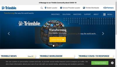 Site internet de Trimble Nantes