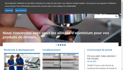 Site internet de Trimet France