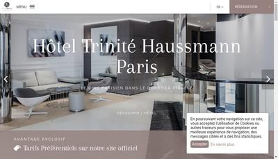 Site internet de Hotel Trinite Haussmann