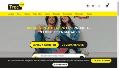 Site internet de Troc Com