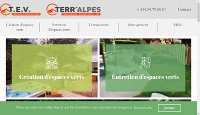 Site internet de Trombert Espaces Verts