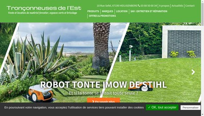 Site internet de Societe Expl Tronconneuse de l'Est