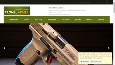 Site internet de Tronel Armes