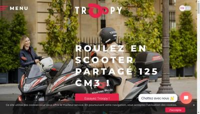 Site internet de Troopy