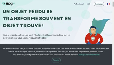 Site internet de Troov