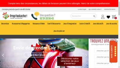 Site internet de Trop Fastoche
