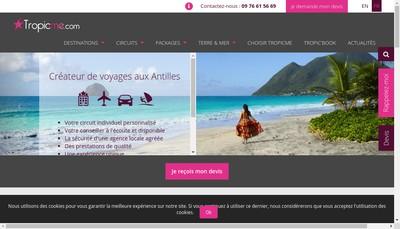 Site internet de Tropicme Com