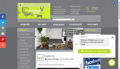 Site internet de Trouble Clic