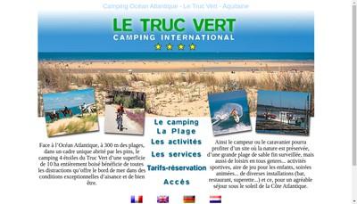 Site internet de Camping du Truc Vert