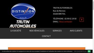 Site internet de Trutin Automobiles