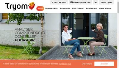 Site internet de SAS Tryom