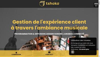 Site internet de Tshoko