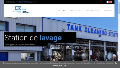 Site internet de Tank Solutions Normandie