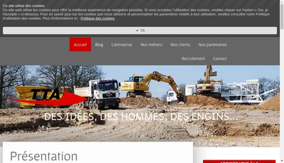 Site internet de Terrassements et Transports Andrieu