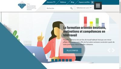 Site internet de Tti Success Insights France
