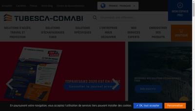 Site internet de Tubesca-Comabi