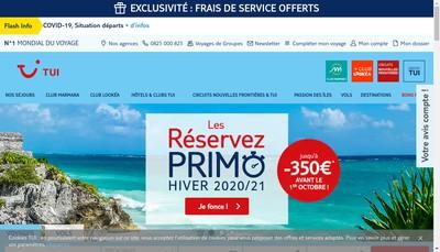 Site internet de Nouvelles Frontieres