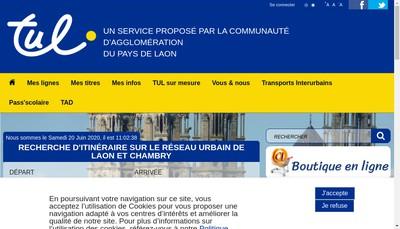 Site internet de Compagnie des Transports du Pays de Laon - Ctpl