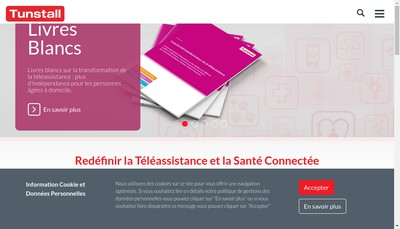 Site internet de Tunstall France