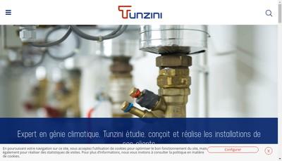 Site internet de Tunzini Tours