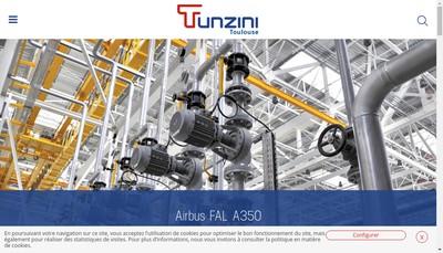 Site internet de Tunzini Toulouse