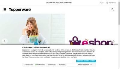 Site internet de Tupperware France