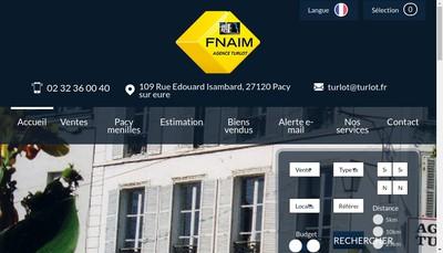 Site internet de Agence Turlot